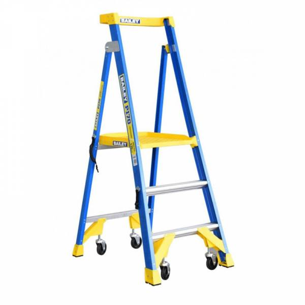 BAILEY P170 Job Station Fibreglass Platform Ladder 3 Steps 0.9m | Bailey P170 Job Station (Fibreglass) | Bailey P170 Job Station (Fibreglass) | Bailey P170 Job Station (Fibreglass) | Bailey P170 Job Station (Fibreglass) | Bailey P170 Job Station (Fibreglass) | Safety Gate for Bailey P170 FG Platform | Safety Gate for Bailey P170 FG Platform