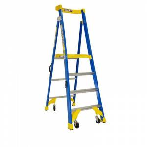 BAILEY P170 Job Station Fibreglass Platform Ladder 4 Steps 4ft 1.2m