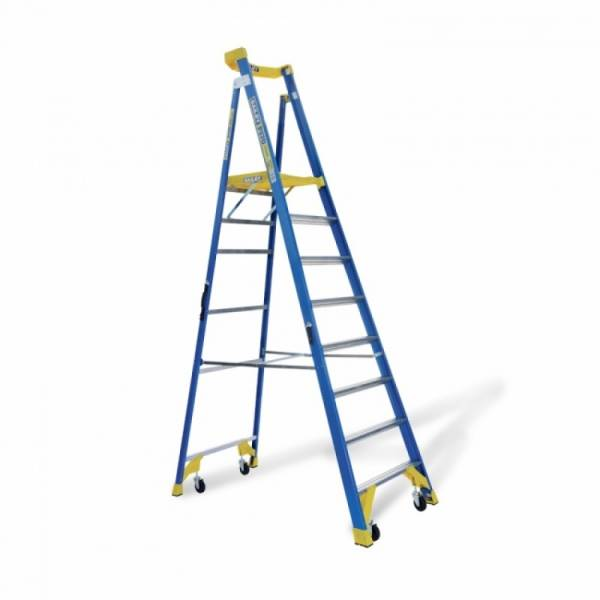 BAILEY P170 Job Station Fibreglass Platform Ladder 8 Steps 8ft 2.3m   BAILEY P170 Job Station Fibreglass Platform Ladder 8 Steps 8ft 2.3m   BAILEY P170 Job Station Fibreglass Platform Ladder 8 Steps 8ft 2.3m