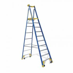 BAILEY P170 Job Station Fibreglass Platform Ladder 10 Steps 10ft 2.9m
