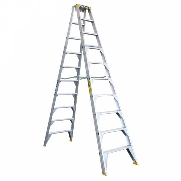 BAILEY Professional Punchlock Aluminium Double Sided Step Ladder 10ft 3.0m