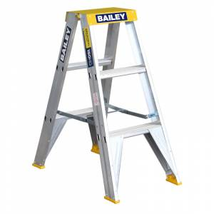 BAILEY Professional Punchlock Aluminium Double Sided Step Ladder 3ft 0.9m | BAILEY Professional Punchlock Aluminium Double Sided Step Ladder 3ft 0.9m | BAILEY Professional Punchlock Aluminium Double Sided Step Ladder 3ft 0.9m