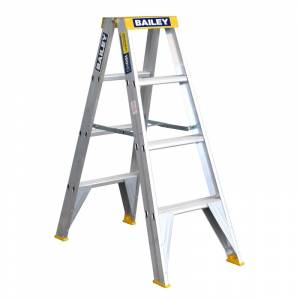 BAILEY Professional Punchlock Aluminium Double Sided Step Ladder 4ft 1.2m