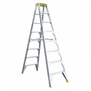 BAILEY Professional Punchlock Aluminium Double Sided Step Ladder 8ft 2.4m | BAILEY Professional Punchlock Aluminium Double Sided Step Ladder 8ft 2.4m | BAILEY Professional Punchlock Aluminium Double Sided Step Ladder 8ft 2.4m