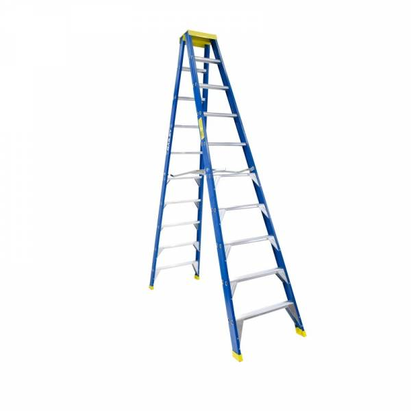 BAILEY Professional Punchlock Fibreglass Double Sided Step Ladder 10ft 3.0m