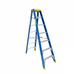 BAILEY Professional Punchlock Fibreglass Double Sided Step Ladder 7ft 2.1m