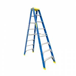 BAILEY Professional Punchlock Fibreglass Double Sided Step Ladder 8ft 2.4m