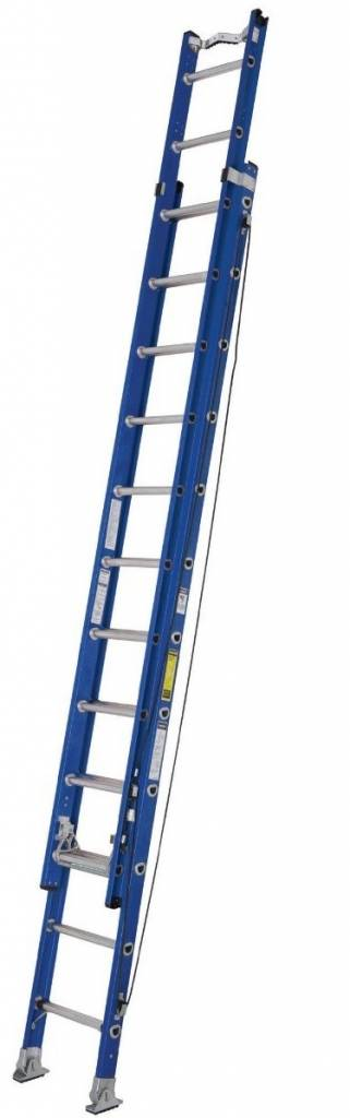Werner 28' Fibreglass Extension Ladder with Vee Rung
