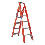 Ladamax Fibreglass Dual Purpose Step Extension Ladder | Swagelock Swagelock style is stronger in twist than riveted ladder