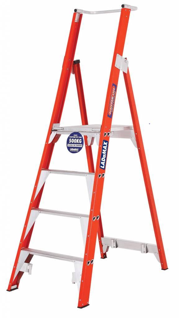 Ladamax 150KG Fibreglass Platform Ladder - G Range