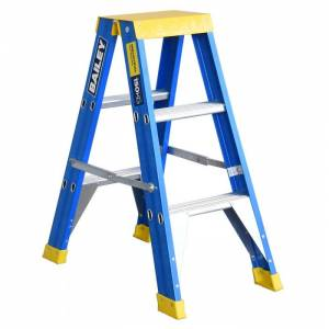 BAILEY Professional Punchlock Fibreglass Double Sided Step Ladder 3ft 0.9m