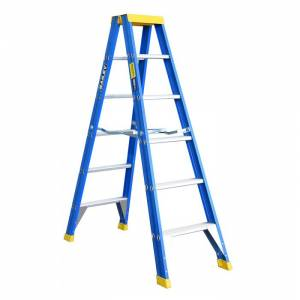 BAILEY Professional Punchlock Fibreglass Double Sided Step Ladder 6ft 1.8m