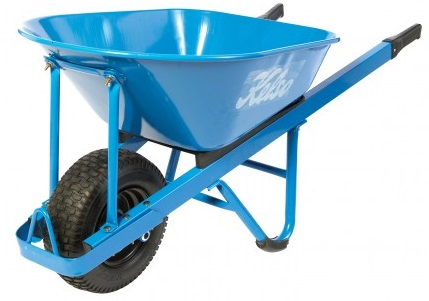 Kelso 100L Pro Trade Steel Tray Wheelbarrow Wide Wheel