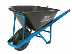 "Kelso Heavy Trade 100 Lt Poly Wheelbarrow with 4"" pneumatic wheel"