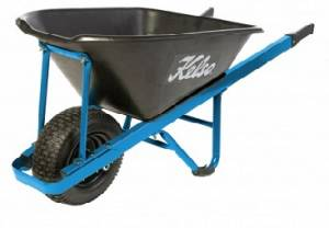 Kelso Pro Trade 100 Lt Poly Wheelbarrow with 4? pneumatic wheel and steel handles