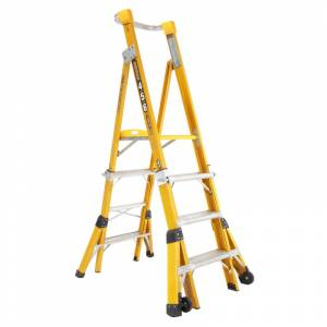 Gorilla Fibreglass Adjustable Platform Ladder - 1.2m to 1.8m | Gorilla Fibreglass Adjustable Platform Ladder - 1.2m to 1.8m | Gorilla Fibreglass Adjustable Platform Ladder - 1.2m to 1.8m