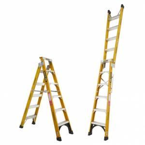 Gorilla Fibreglass Dual Purpose Ladder 150 kg 6ft 1.8m - 3.2m