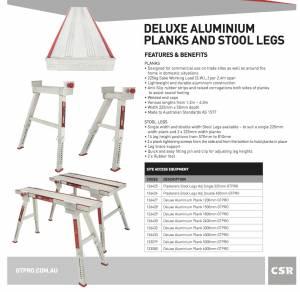 Aluminium Stools with Planks