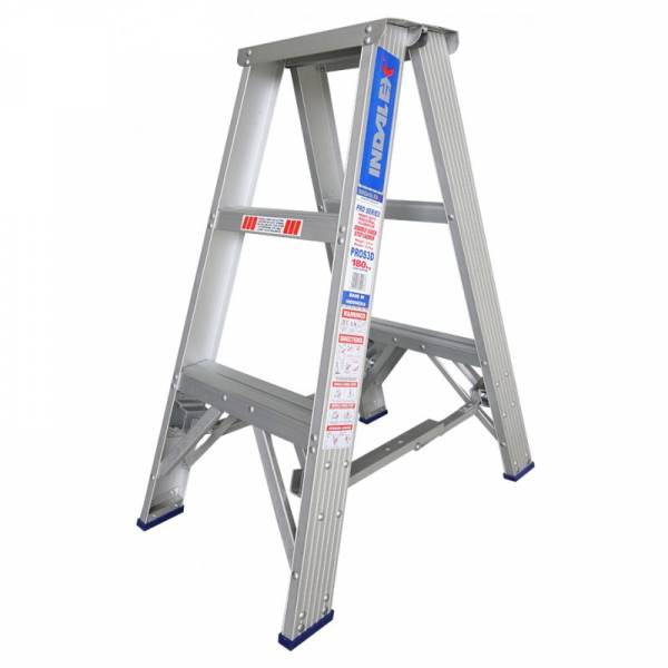 Indalex Pro Series Aluminium Double Sided Step Ladder 3ft 0.9m