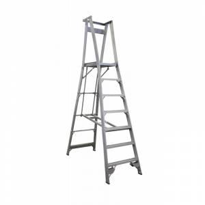 INDALEX Pro Series Aluminium Platform Ladder 7 Steps 10ft/7ft (3.0m/2.1m)