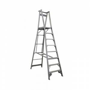 INDALEX Pro Series Aluminium Platform Ladder 8 Steps 11ft/8ft (3.4m/2.4m)