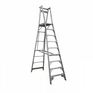 INDALEX Pro Series Aluminium Platform Ladder 9 Steps 12ft/9ft (3.7m/2.7m)
