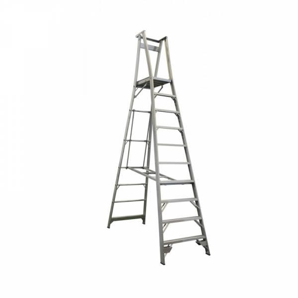 INDALEX Pro Series Aluminium Platform Ladder 10 Steps 13ft/10ft (4.0m/3.0m)