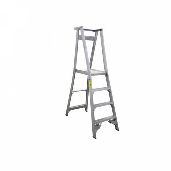 INDALEX Pro Series Aluminium Platform Ladder 4 Steps 7ft/4ft (2.1m/1.2m)