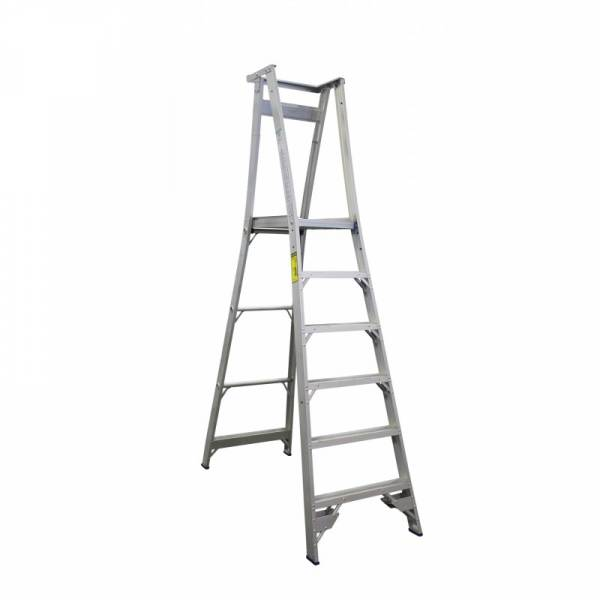 INDALEX Pro Series Aluminium Platform Ladder 6 Steps 9ft/6ft (2.7m/1.8m)