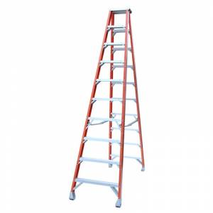 Indalex Pro Series Fibreglass Double Sided Step Ladders 8ft 2.4m