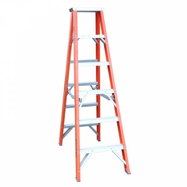 Indalex Pro Series Fibreglass Double Sided Step Ladders 3ft 0.9m