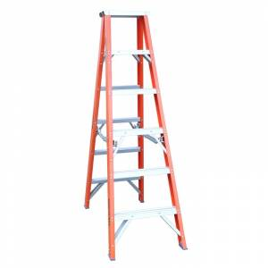 Indalex Pro Series Fibreglass Double Sided Step Ladders 6ft 1.8m