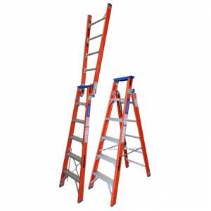 Indalex Pro Series Fibreglass Dual Purpose Ladder 6ft 1.8m - 3.2m | Indalex Pro Series Fibreglass Dual Purpose Ladder 6ft 1.8m - 3.2m | Indalex Pro Series Fibreglass Dual Purpose Ladder 6ft 1.8m - 3.2m