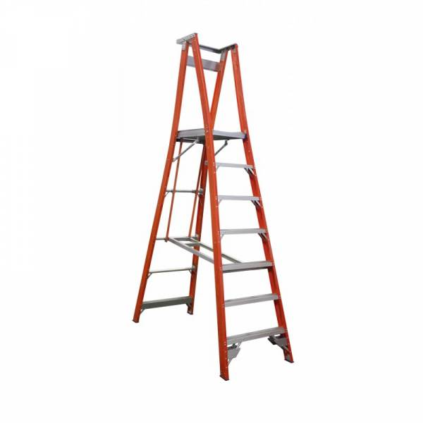 Indalex Pro Series Fibreglass Platform Ladder 7 Step (2.1m)