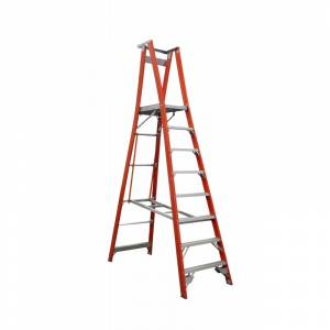 Indalex Pro Series Fibreglass Platform Ladder 8 Step (2.4m)