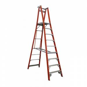 Indalex Pro Series Fibreglass Platform Ladder 9 Step (2.7m)