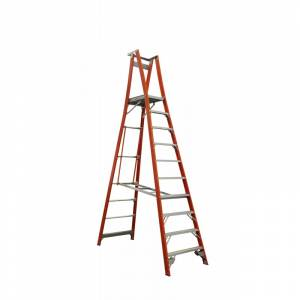 Indalex Pro Series Fibreglass Platform Ladder 10 Step (3.0m)