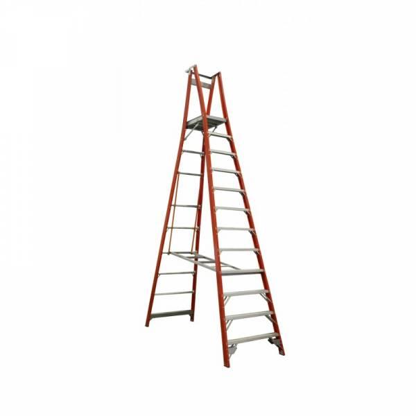 Indalex Pro Series Fibreglass Platform Ladder 12 Step (3.6m)