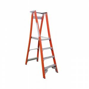 Indalex Fibreglass Platform Ladder 4 Step (1.2m)