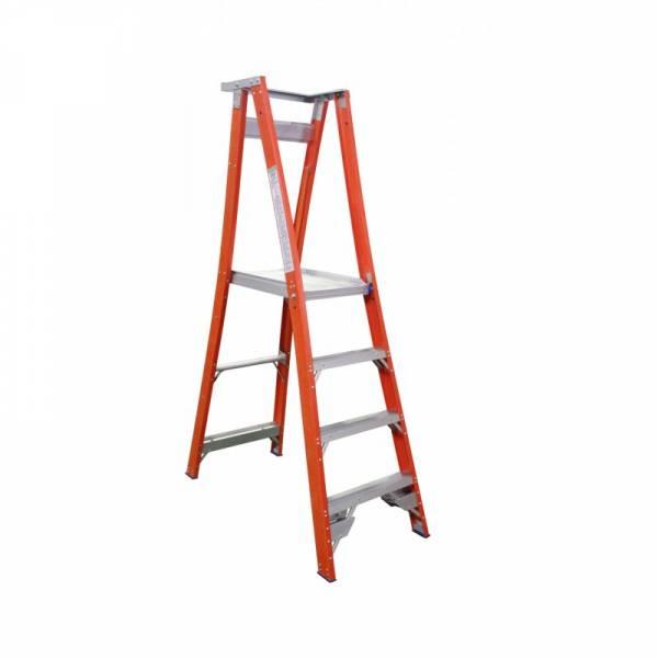 Indalex Fibreglass Platform Ladder 4 Step (1.2m)