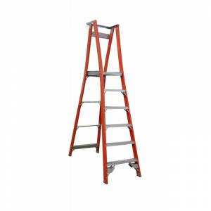 Indalex Pro Series Fibreglass Platform Ladder 6 Step (1.8m)