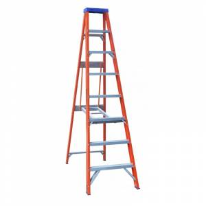 Indalex Pro Series Fibreglass Single Sided Step Ladder 8ft 2.4m