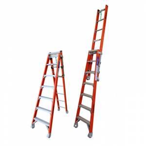 Indalex Pro Series Fibreglass Step Extension Ladder 7ft 2.1m - 3.7m | Indalex Pro Series Fibreglass Step Extension Ladder 7ft 2.1m - 3.7m | Indalex Pro Series Fibreglass Step Extension Ladder 7ft 2.1m - 3.7m