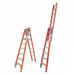 Indalex Pro Series Fibreglass Step Extension Ladder 8ft 2.4m - 4.1m | Indalex Pro Series Fibreglass Step Extension Ladder 8ft 2.4m - 4.1m | Indalex Pro Series Fibreglass Step Extension Ladder 8ft 2.4m - 4.1m