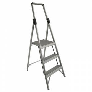 INDALEX Tradesman Aluminium Slimline Platform Ladder 3 Steps 1.8m/0.9m