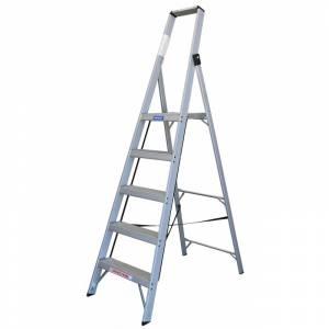 INDALEX Tradesman Aluminium Slimline Platform Ladder 5 Steps 2.4m/1.5m | INDALEX Tradesman Aluminium Slimline Platform Ladder 5 Steps 2.4m/1.5m