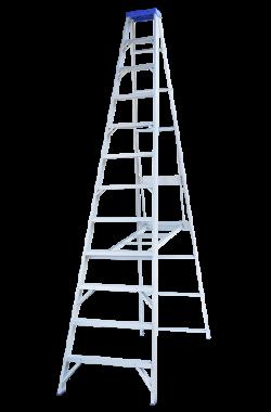 Indalex Single Sided Aluminium Ladder 10' (3m)