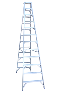 Indalex Double Sided Aluminium Step Ladder 14Ft - (4.2m)