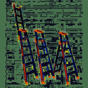 Bailey Aluminium SLS 3 in 1 Ladder 8'-14' (2.4m-4.2m) | Bailey Aluminium SLS 3 in 1 Ladder 8'-14' (2.4m-4.2m) | Bailey Aluminium SLS 3 in 1 Ladder 8'-14' (2.4m-4.2m)