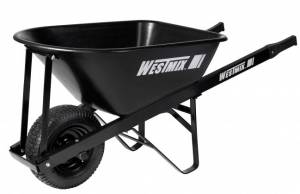 "Westmix 100Lt Poly Tray Wheelbarrow with 6.5"" pneumatic wheel"